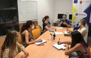 Reunión del equipo del Programa Euroempleo en el Centro de Salud Mental de Molina de Segura