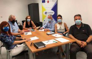 Reunión del equipo directivo de Euroempleo y miembros de la cátedra de RSC de la UMU